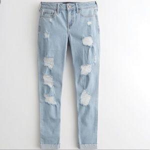 Hollister Low Rise Super Skinny Crop Jeans